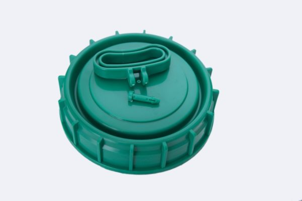 Tampa Plastica Para Vasilhame 30-50L Cores Preta e Verde